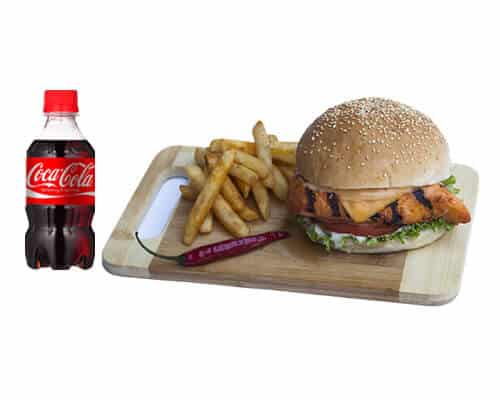 Spice Chicken Burger Meal