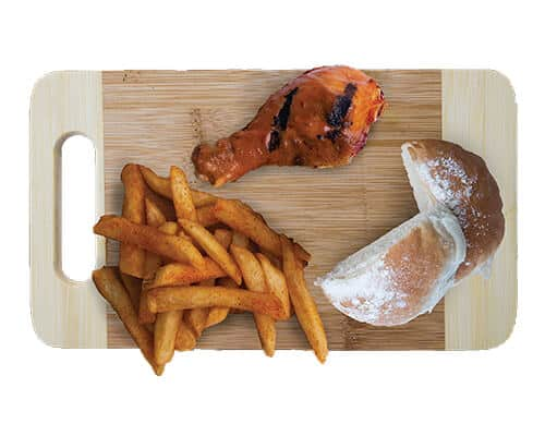 1 Piece Chicken Small Chips Portuguese Roll
