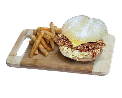 Pulled Chicken Roll and Small Chips